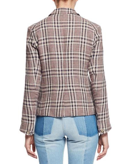 Clancy Cropped Denim Jeans Light Blue