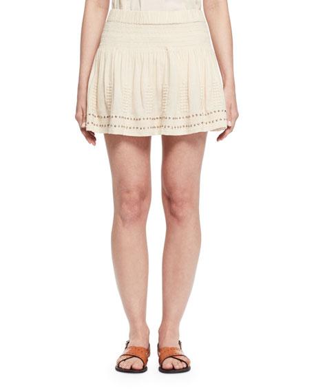Etoile Isabel Marant Alea Studded Jersey Mini Skirt,
