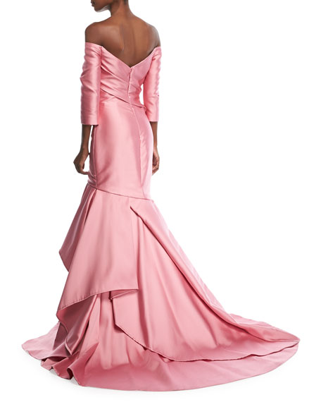 Off-the-Shoulder Tulip Gown