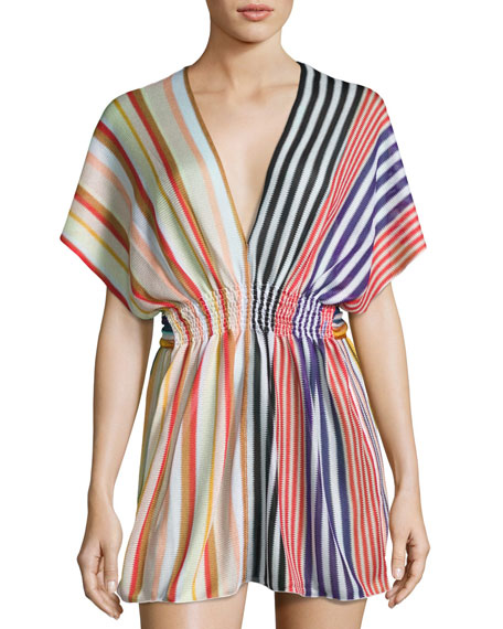 Missoni Mare Striped Knit Beach Dress, Multi