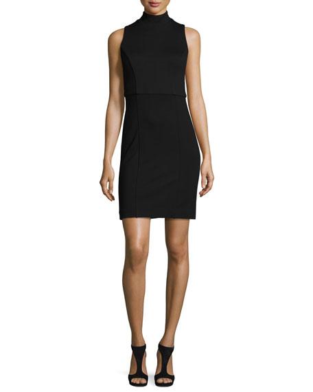 French Connection Lula High-Line Sheath Dress, Black