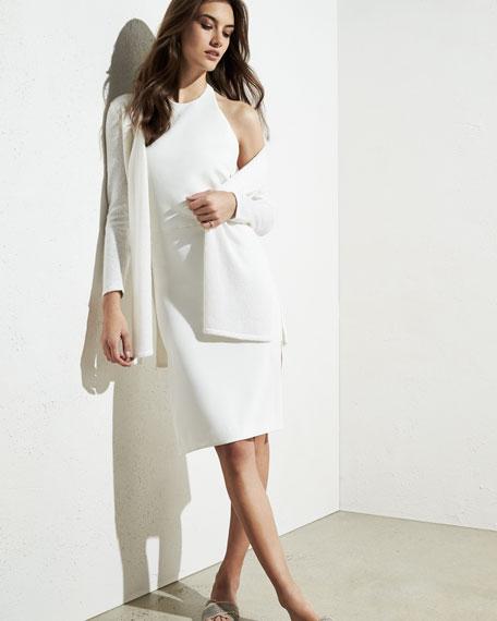 Long Sequin Cashmere Open Cardigan