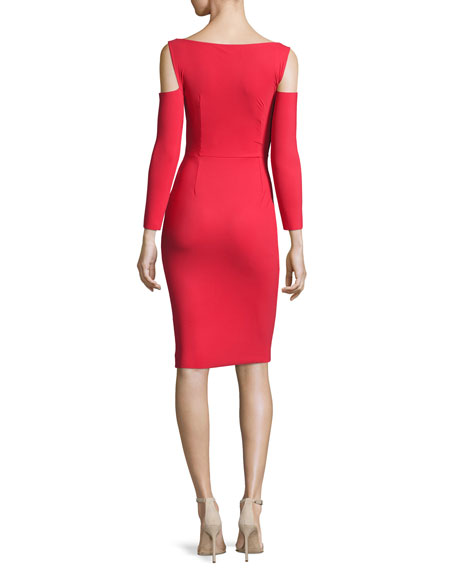Addison Cold-Shoulder Bodycon Cocktail Dress