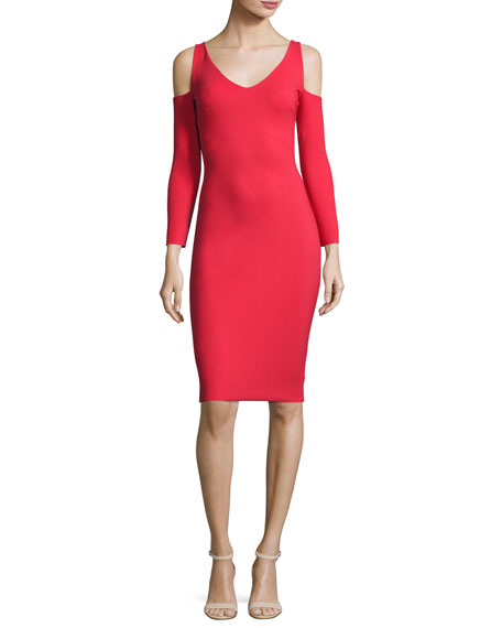 Chiara Boni La Petite Robe Addison Cold-Shoulder Bodycon