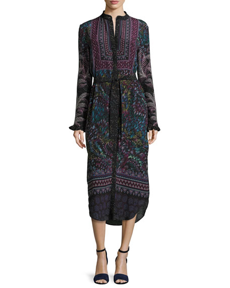 Molly-D Belted Silk Shirtdress