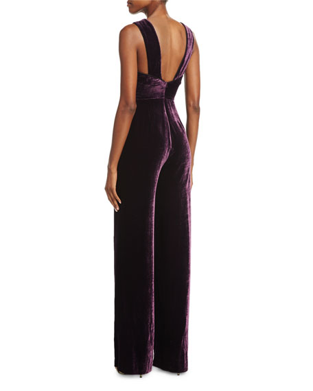 Jules C Sleeveless Velvet Jumpsuit
