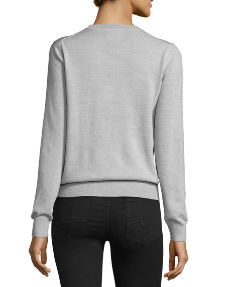 Perfume Sequined Grace Jumper, Light Gray Marl