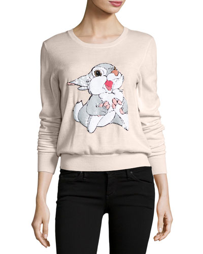 x Disney? Thumper Sequined Grace Jumper, Powder Pink