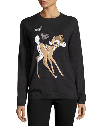 x Disney? Bambi Sequined Natalie Jumper, Charcoal