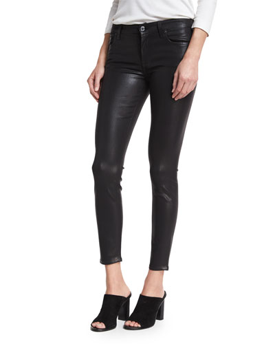 The Ankle Skinny with Distressing, Coated Fashion