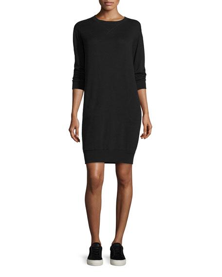ATM Anthony Thomas Melillo Crewneck Sweatshirt Dress, Black