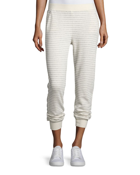 ATM Anthony Thomas Melillo Straight-Leg Striped Sweatpants,
