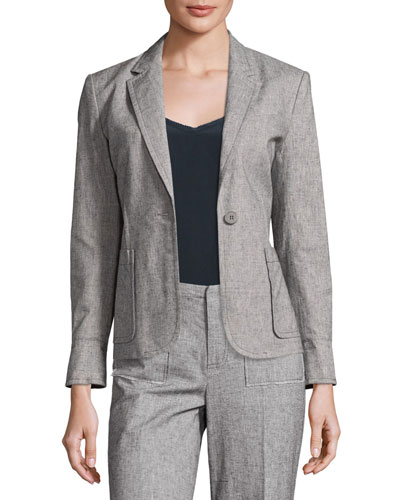 Tweed Prep School Blazer, Gray