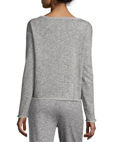 Sparkle Pullover Sweatshirt, Gray