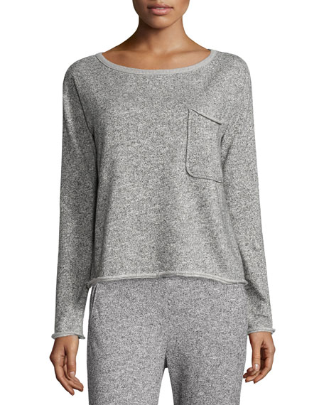 ATM Anthony Thomas Melillo Sparkle Pullover Sweatshirt, Gray