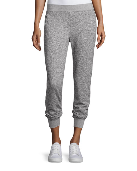 ATM Anthony Thomas Melillo Straight-Leg Sparkle Sweatpants, Gray