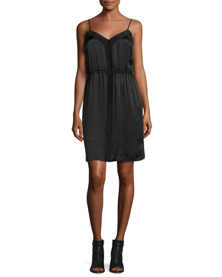 ATM Anthony Thomas Melillo Silk Camisole Dress, Black