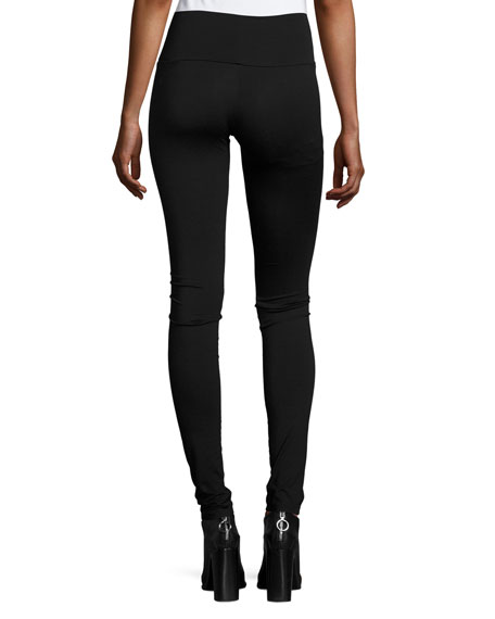 Super Long Leggings, Black, Plus Size