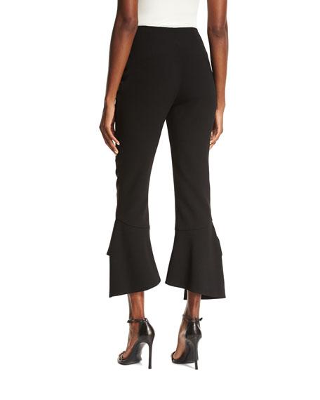 Crepe Spiral Pants, Black