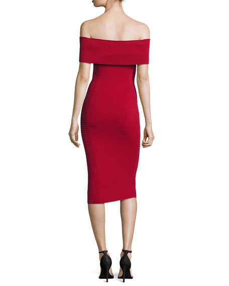 Milano Off-the-Shoulder Bandage Dress
