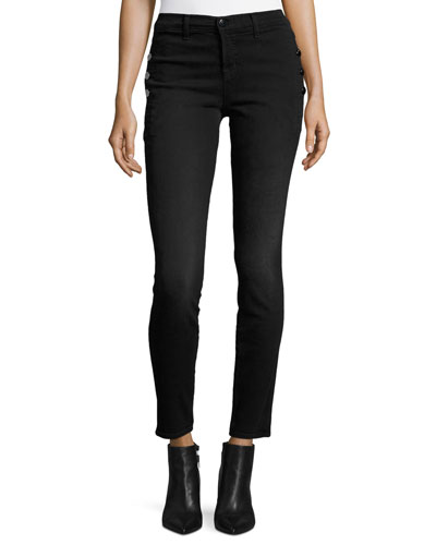 Zion Mid Rise Skinny Jeans, Defiance