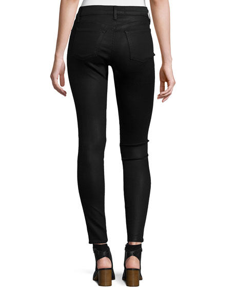 Image 2 of 3: Mid-Rise Coated Skinny Ankle Jeans, Fearless