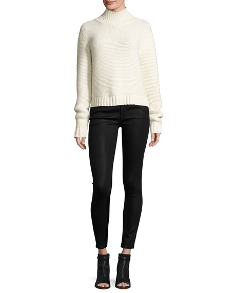Image 3 of 3: Mid-Rise Coated Skinny Ankle Jeans, Fearless