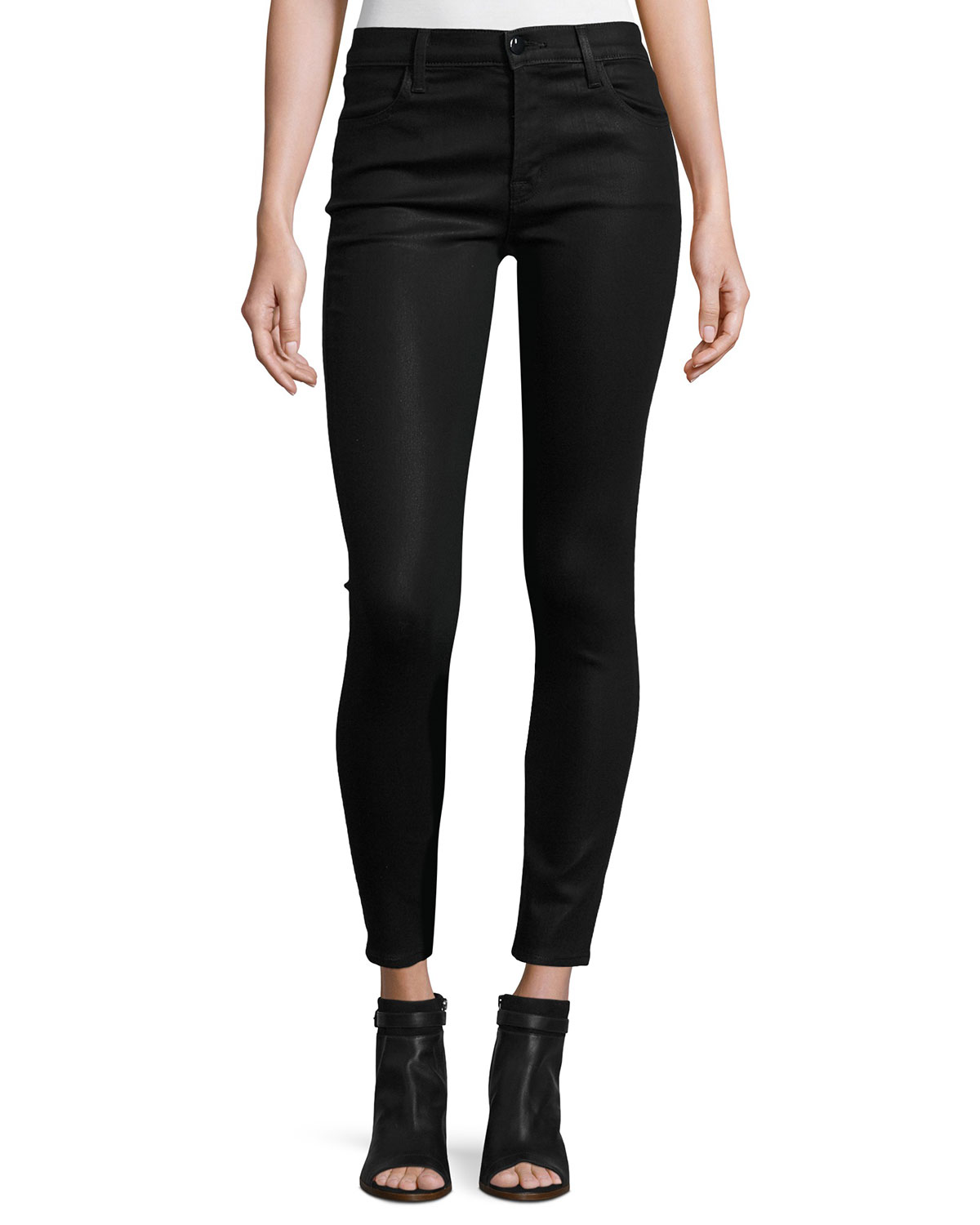6949f215df04 J Brand Mid-Rise Coated Skinny Ankle Jeans