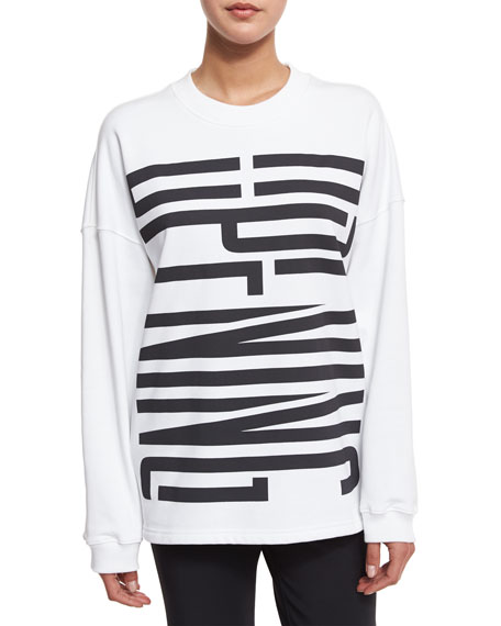 Opening Ceremony Cozy Stretch Logo Sweatshirt, White