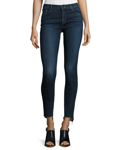 811 Mid-Rise Skinny Staggered-Hem Jeans, Mesmeric