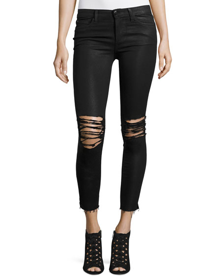 Joe's Jeans The Icon Ankle Coated Jeans w/Distressing,