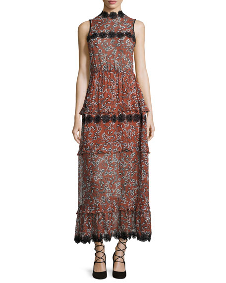 Sicilian Floral Tiered Maxi Dress