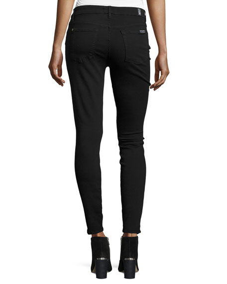 7 For All Mankind The Ankle Skinny Destroyed Jeans w/Sequins ...