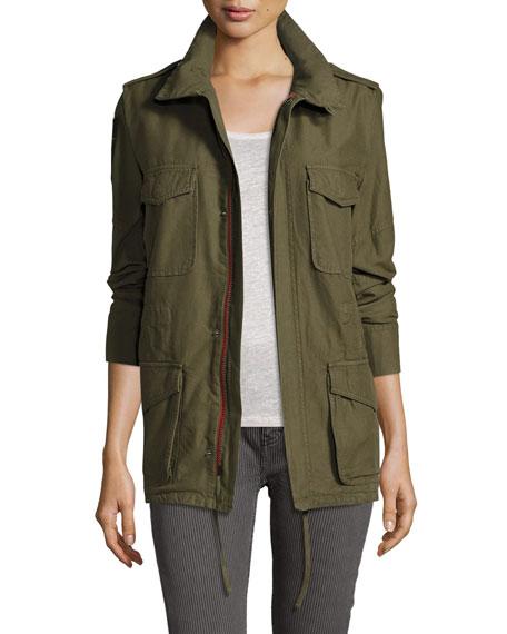 Etienne Marcel Utility Zip-Front Jacket