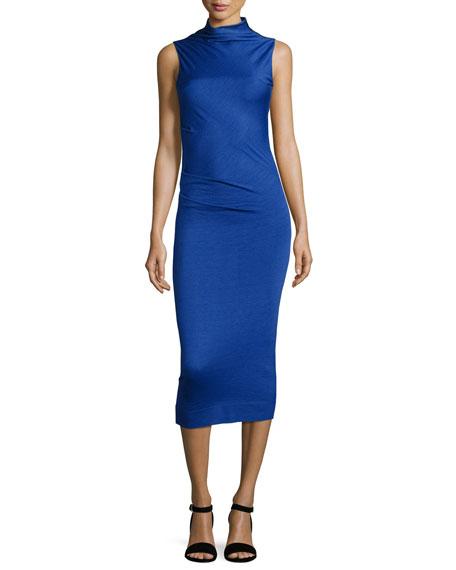 Rag & Bone Francis Sleeveless Wool Midi Dress,