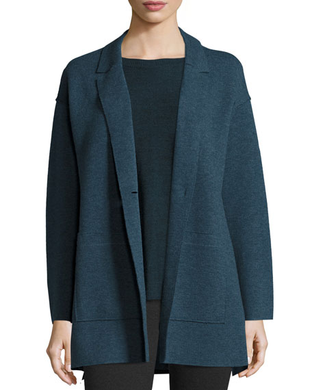 Eileen Fisher Felted Merino Boyfriend Jacket