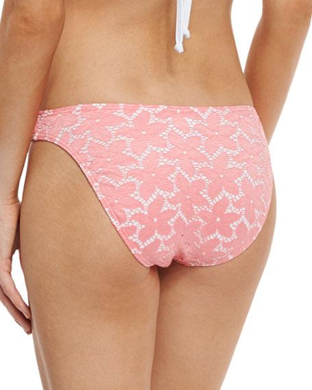 Daisy Lace Hipster Swim Bikini Bottom