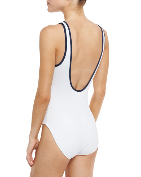 Classic Piqué One-Piece Swimsuit