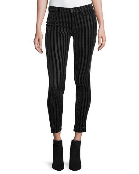 Nico Mid-Rise Skinny Ankle Jeans, Linear