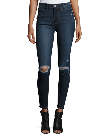 Hoxton Destructed Ankle Jeans, Aveline