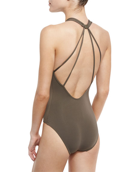 Promises Lace-Up One-Piece Swimsuit