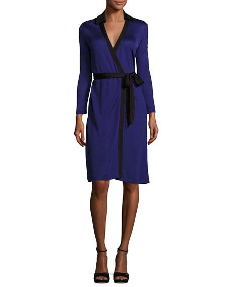 contrast print wrap dress - Blue Diane Von Fürstenberg B81oW