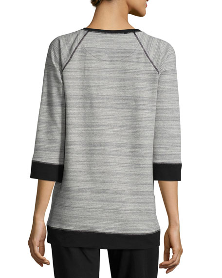 Sport Sweatshirt W/ Diagonal Zip Detail