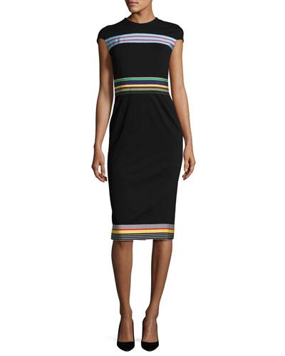 Hadlie Striped Sheath Dress