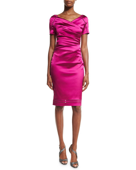 Ruched Cocktail Dress  Neiman Marcus