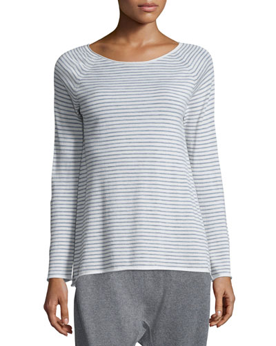 Cashmere Striped Wool Tunic