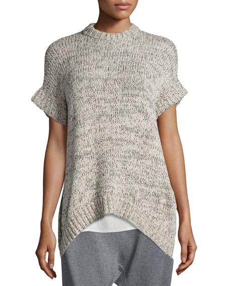 Eileen Fisher Crimp Twist Short-Sleeve Top