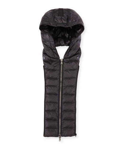 Quilted Puffer Hoodie Dickey, Black
