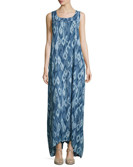 PilyQ Tulum Coverup Maxi Dress, Atlantis