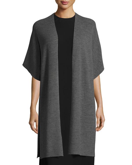 Eileen Fisher Merino Ribbed Easy Cardigan